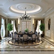 精美欧式别墅餐厅装修设计效果图片大全