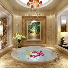 精美面积136平别墅卫生间欧式装修设计效果图片欣赏