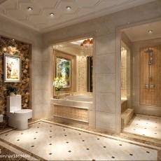 精美面积120平别墅卫生间欧式效果图