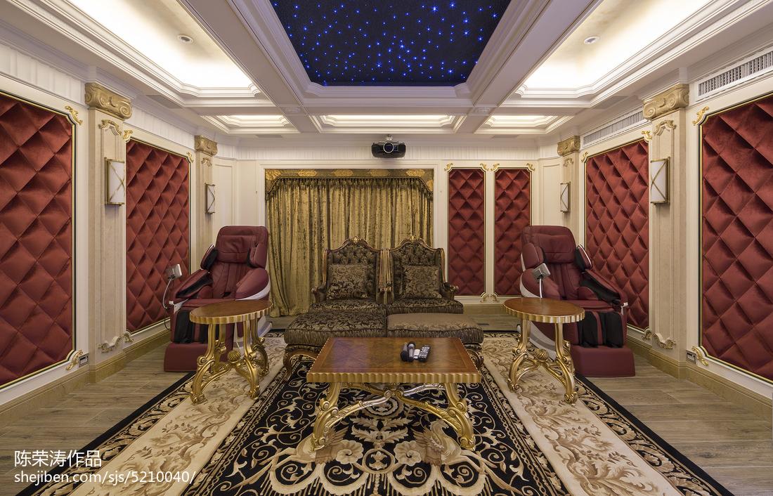 别墅欧式风格视听室装修