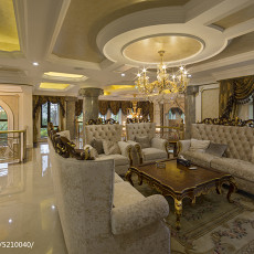热门133平米欧式别墅客厅装修欣赏图片