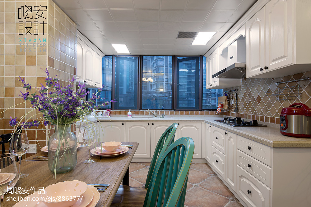 大气106平混搭三居厨房设计美图