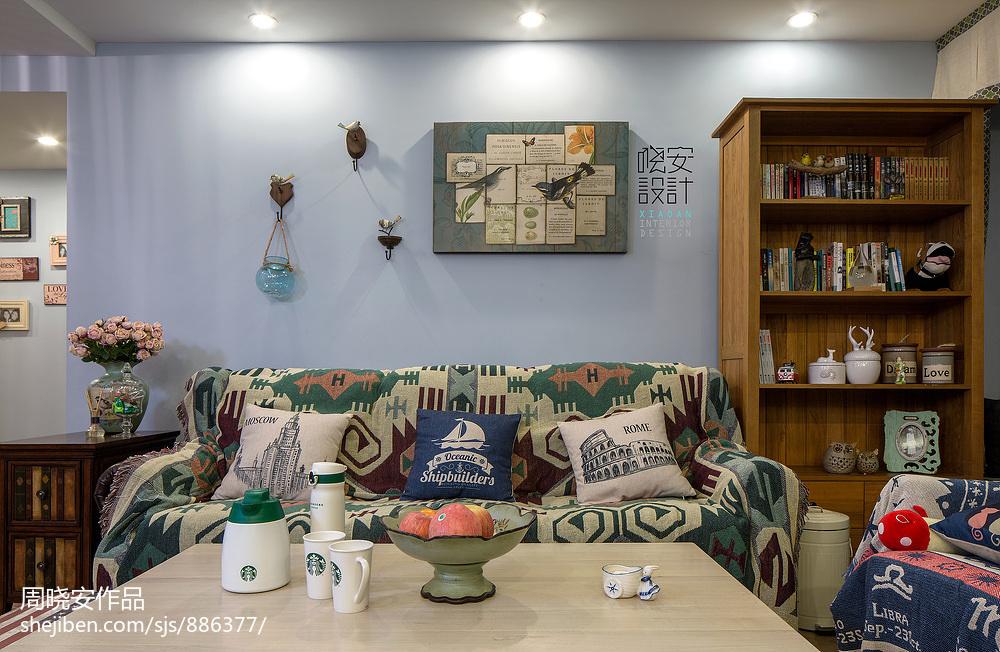 华丽120平混搭三居客厅装修图片