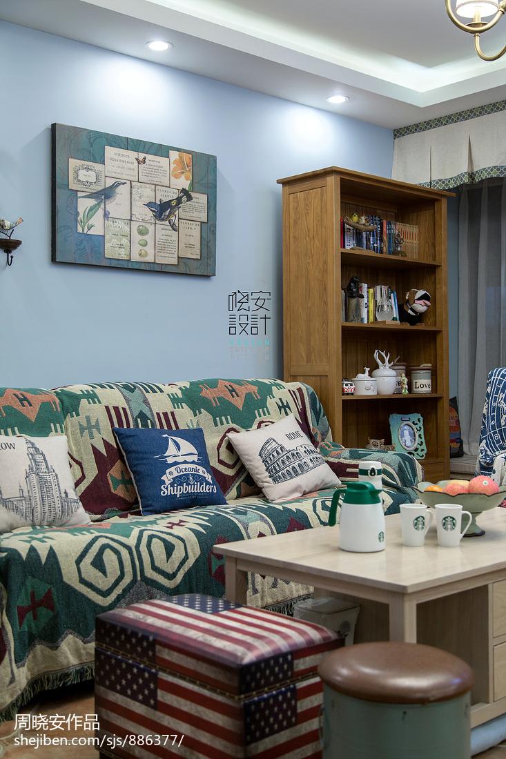 质朴108平混搭三居客厅装饰美图