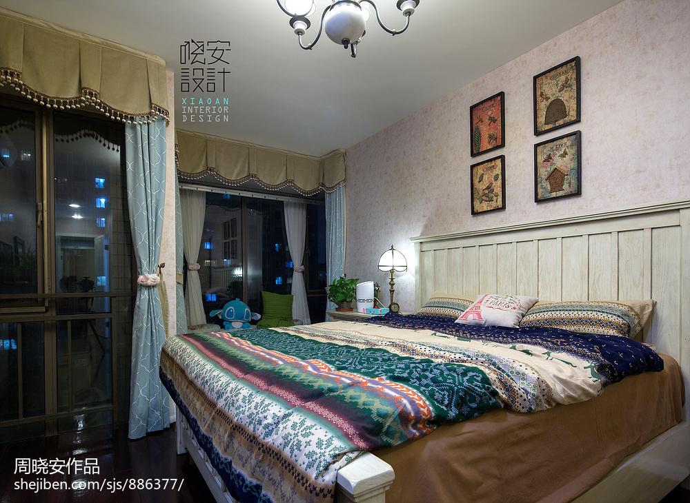 优雅76平混搭三居卧室布置图