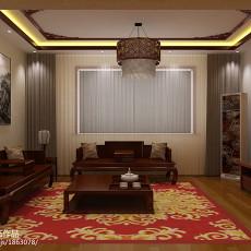 热门面积97平中式三居客厅实景图