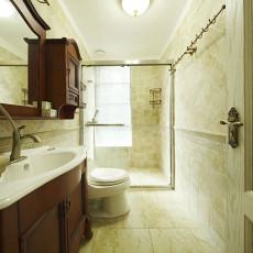 70平米二居卫生间美式装饰图