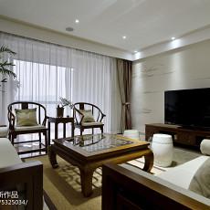 热门111平方四居客厅中式实景图片欣赏