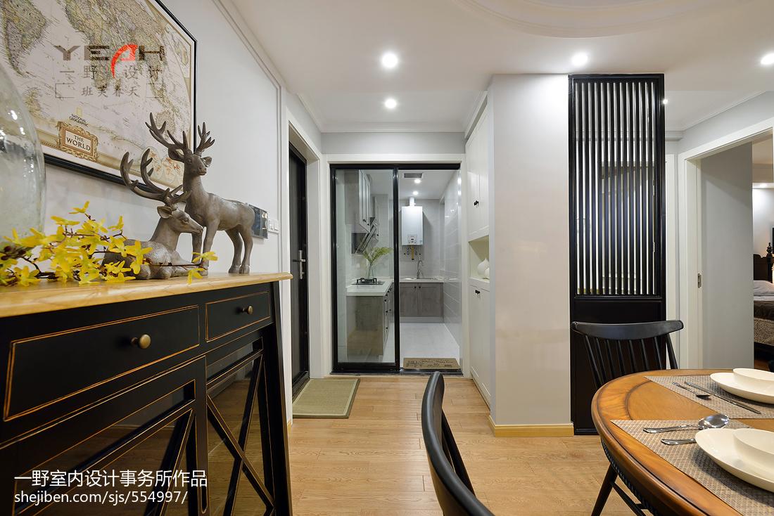 201871平米二居餐厅美式装修欣赏图片