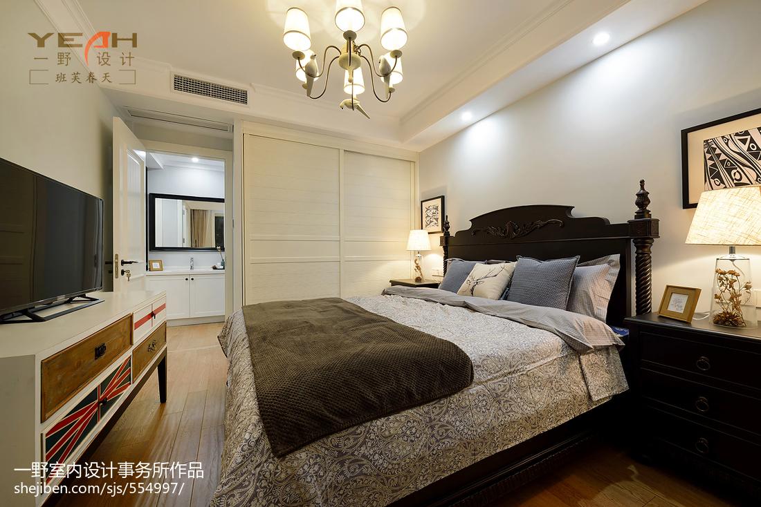浪漫52平美式二居卧室装修效果图