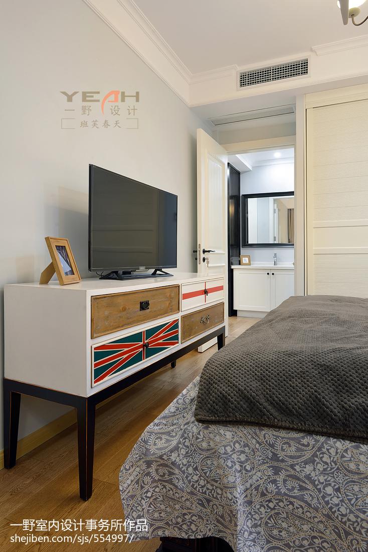 2018精选88平米二居卧室美式实景图片