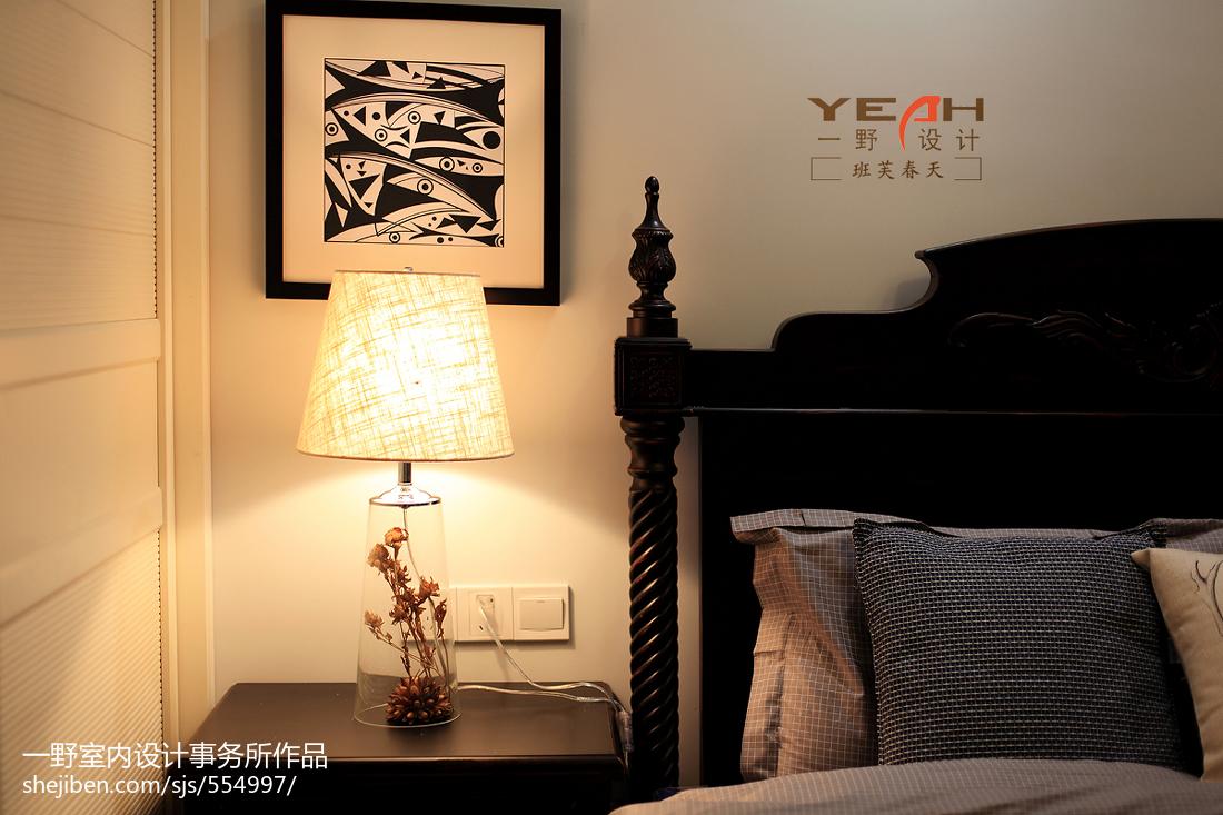 精选88平米二居卧室美式实景图片欣赏