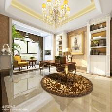 精美129平米欧式别墅书房装修设计效果图片
