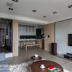 96平大小客厅三居现代装修效果图片
