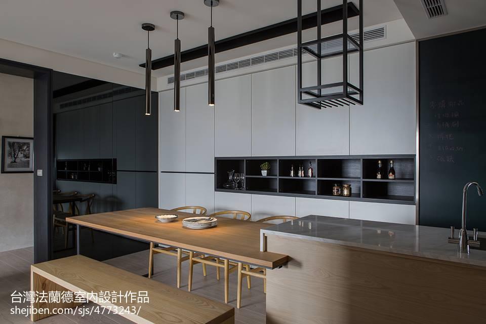 2018精选大小94平现代三居餐厅装修实景图片大全