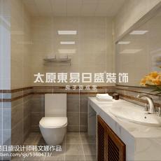 2018精选97平米三居卫生间现代装修实景图片