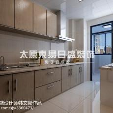 精选95平方三居厨房现代装修实景图