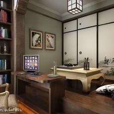 精选77平米二居书房美式设计效果图