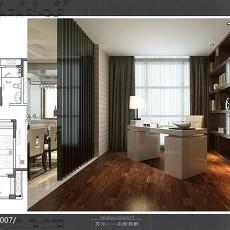 热门现代四居书房装修效果图片欣赏