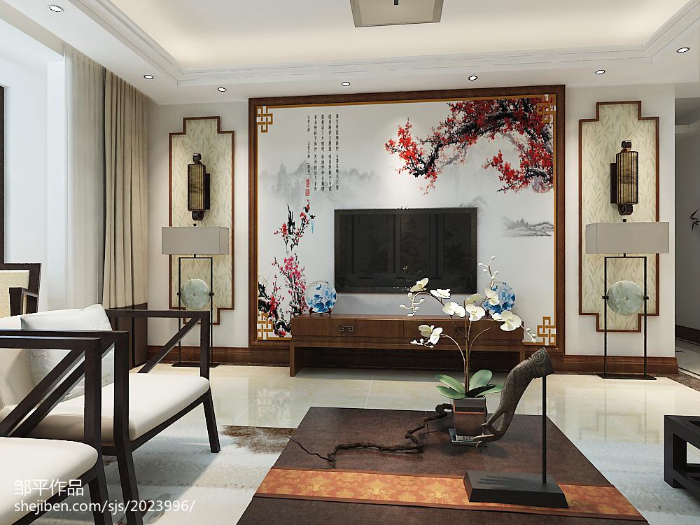 2018面积127平中式四居客厅装修图片