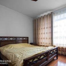 古典中式卧室窗帘效果图