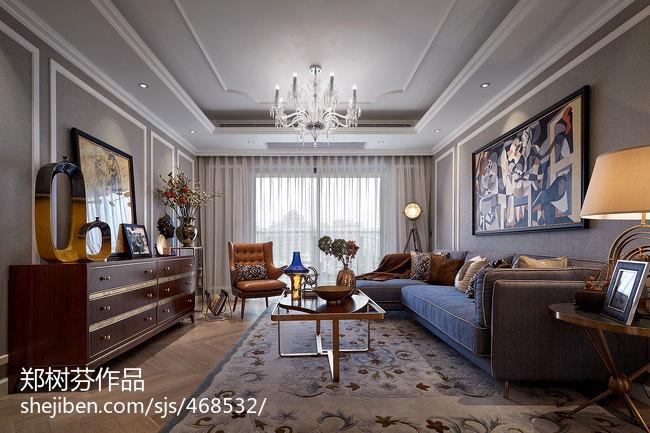 精美美式客厅装修图片