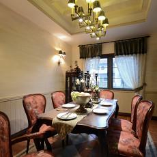 精选130平米美式别墅餐厅装修欣赏图片