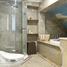 面积125平别墅卫生间新古典设计效果图