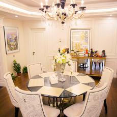 2018精选117平米美式别墅餐厅效果图片欣赏