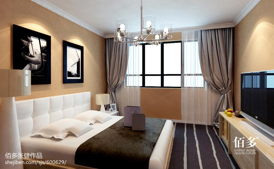 面积73平现代二居卧室效果图