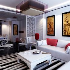201890平方三居客厅中式装修效果图片欣赏