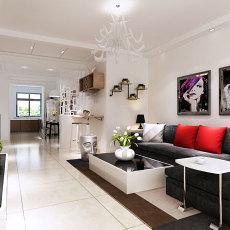 精选72平米二居客厅现代实景图片大全