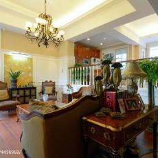 温馨209平美式别墅客厅设计效果图