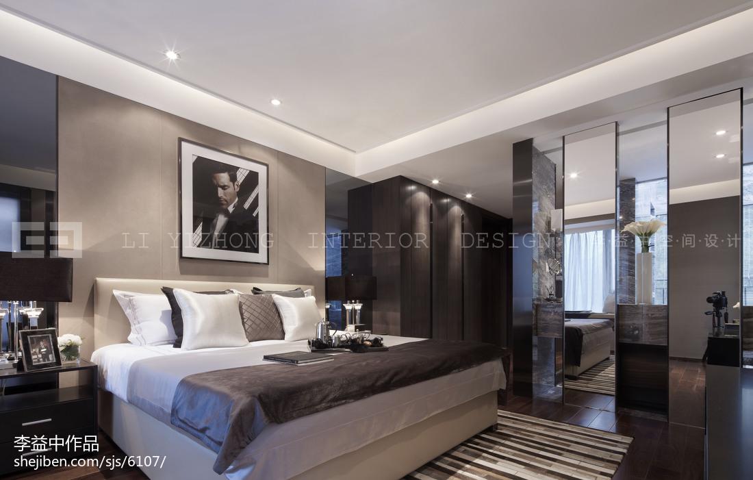 欧式样板间卧室效果图