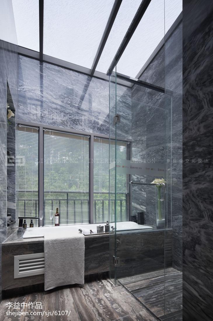 欧式样板间卫浴装修效果图