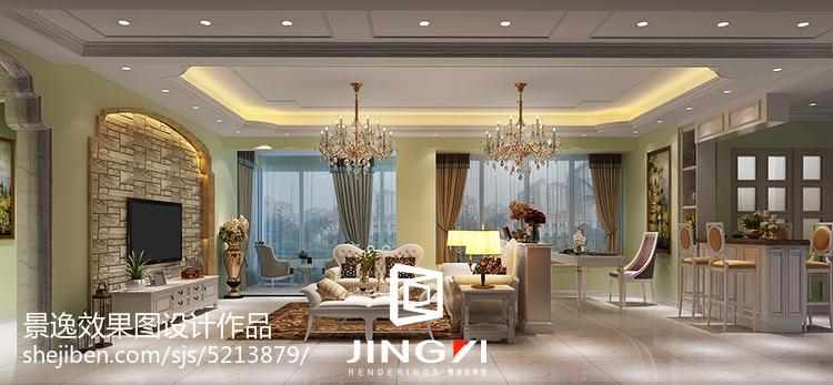 精选79平米欧式小户型客厅装饰图片欣赏