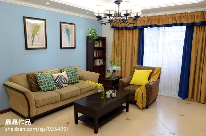 温馨40平美式复式客厅效果图欣赏