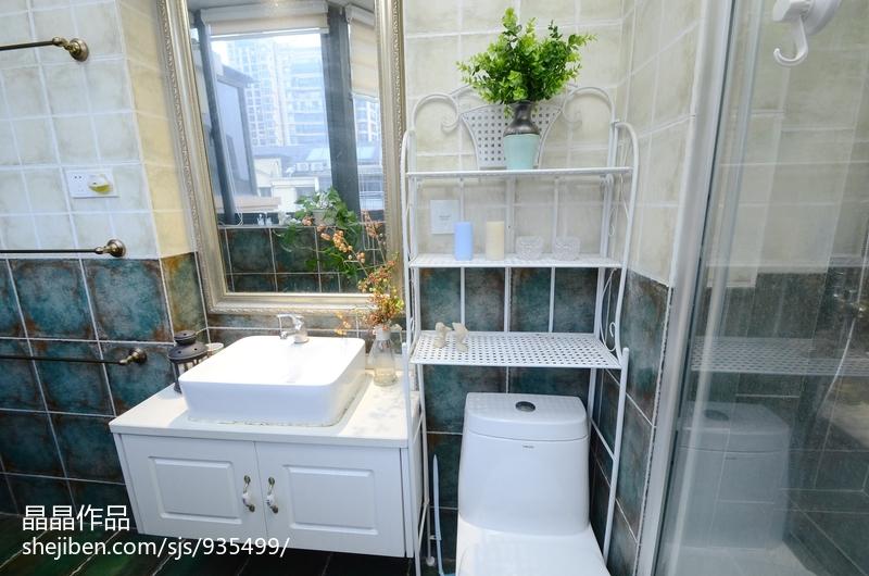 悠雅47平美式复式卫生间效果图欣赏
