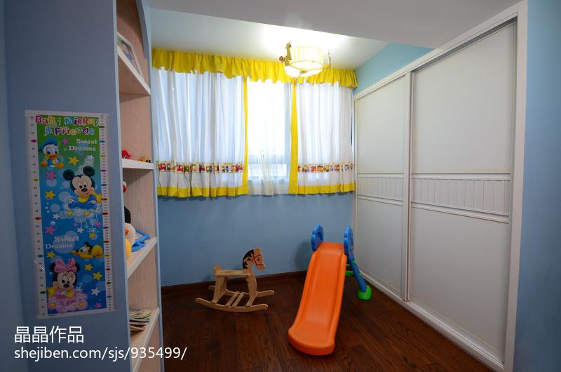 悠雅48平美式复式儿童房装修美图