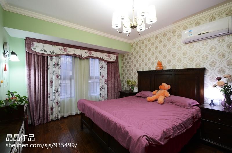 明亮62平美式复式卧室布置图