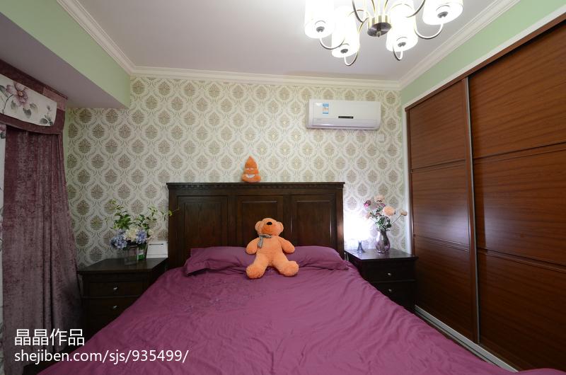 大气71平美式复式卧室图片欣赏