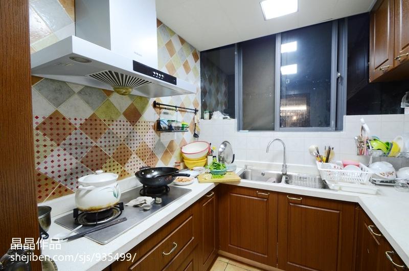 质朴72平美式复式厨房装修图
