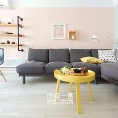 精美70平欧式复式客厅设计效果图