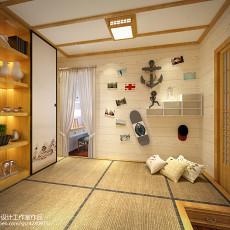 2018精选107平米三居卧室美式装修设计效果图片