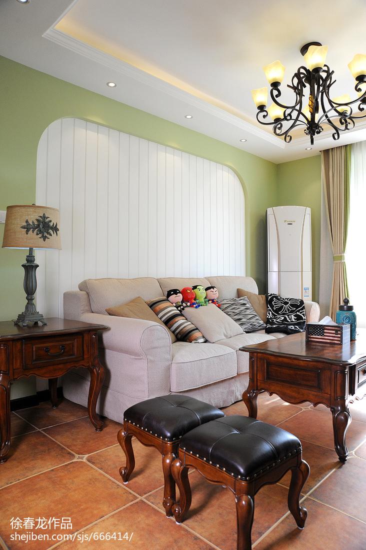 精选86平米二居客厅美式装修图片大全