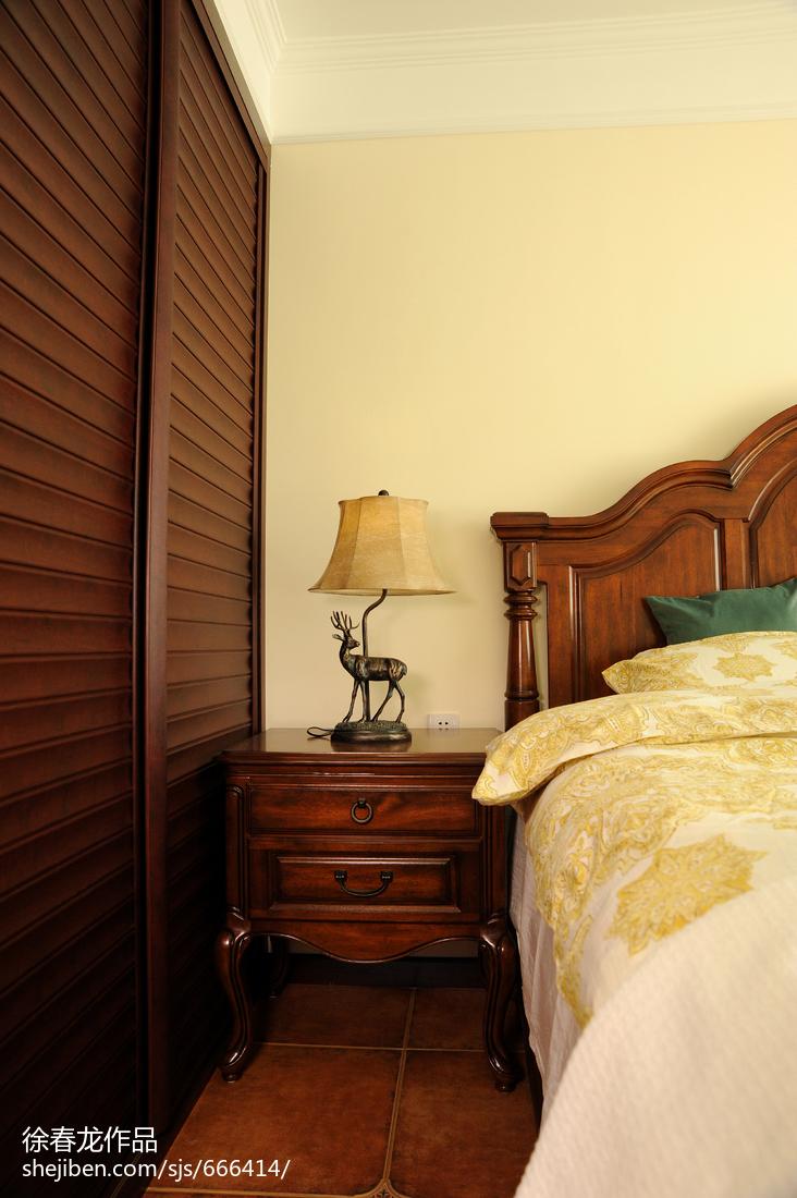 精选二居卧室美式装修设计效果图