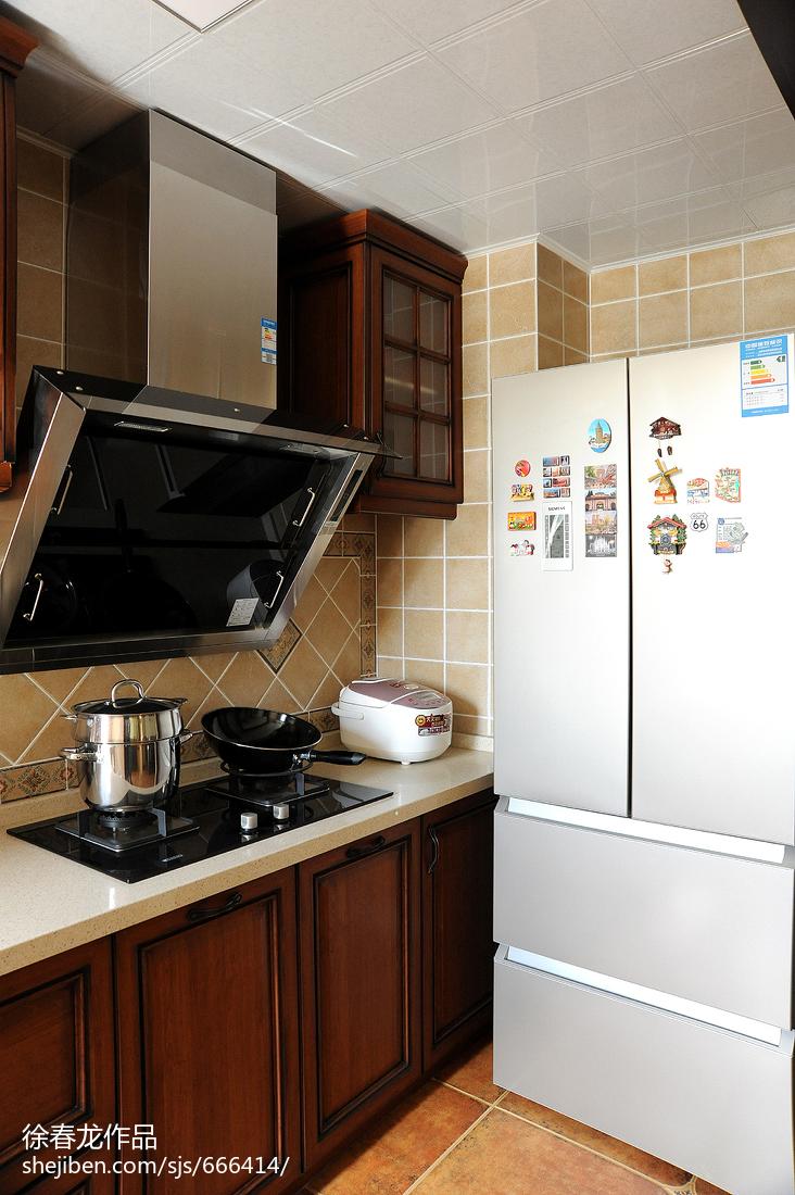 热门面积85平美式二居厨房欣赏图