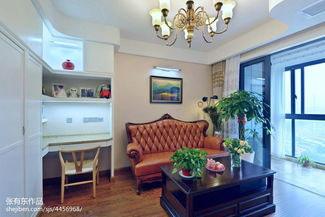 优美64平美式二居客厅装修装饰图