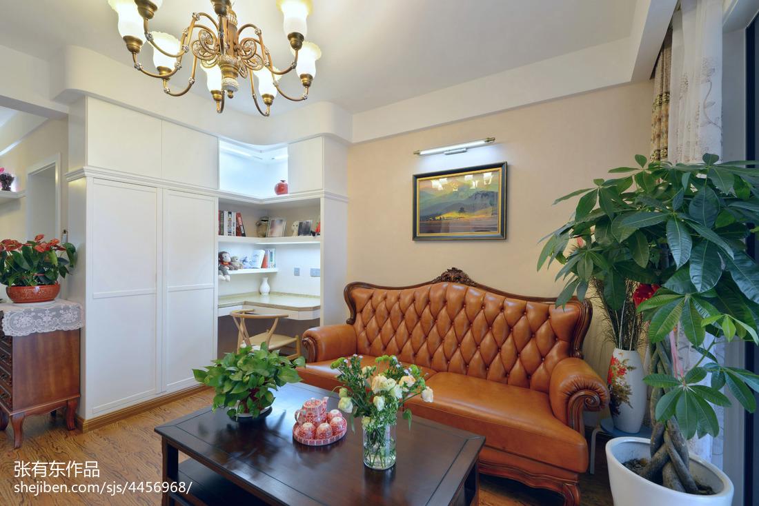 精致85平美式二居客厅装修效果图