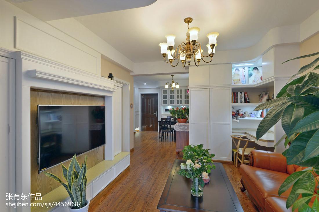 大气70平美式二居客厅设计美图